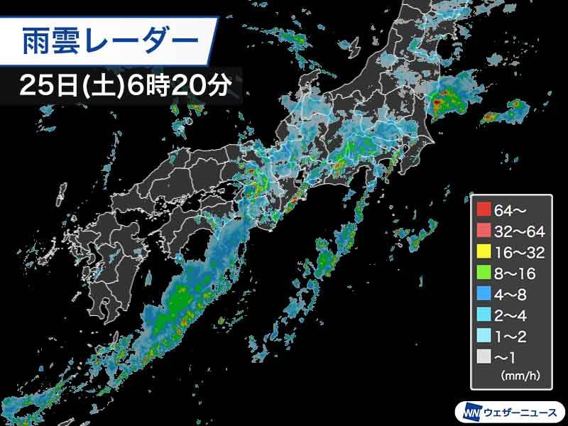 雨雲レーダー 浜松市