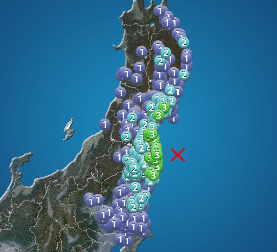 地震 福島 宮城