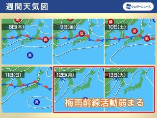 福井 天気 10 日間